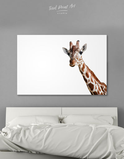 Funny Giraffe Wall Art Canvas Print - 1 panel Animal Animals bedroom Living Room
