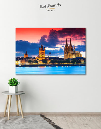 Germany Wall Art Canvas Print - Canvas Wall Art 1 panel bedroom City Skyline Wall Art Cityscape Hallway