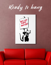 Get Out While You Can by Banksy Wall Art Canvas Print