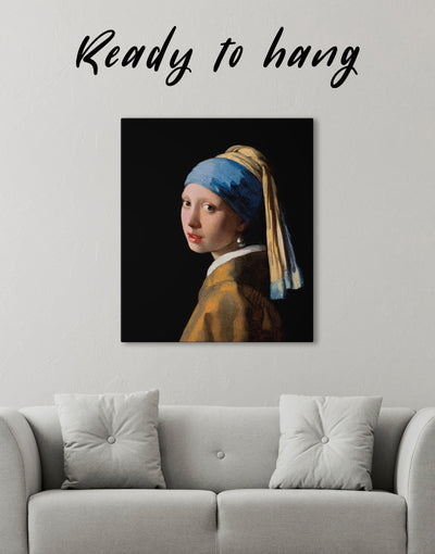 Girl with a Pearl Earring by Johannes Vermeer Wall Art Canvas Print - Canvas Wall Art 1 panel bedroom Hallway Living Room Office Wall Art