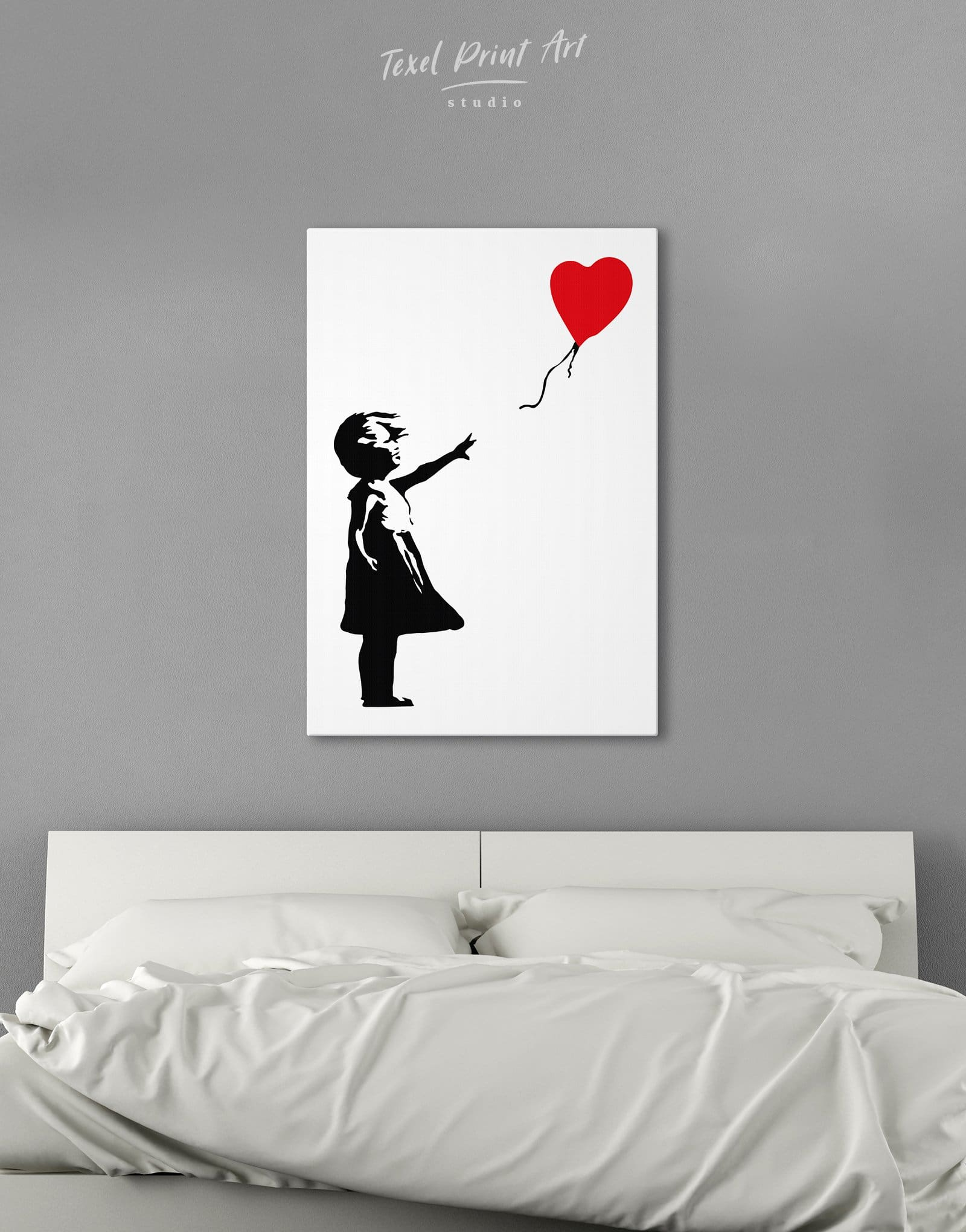BANKSY ART Picture Blue Balloon Girl Print Love Peace Hope Abstract Wall Canvas