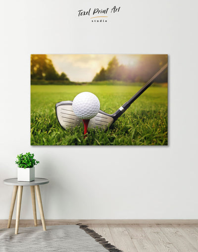 Golf Ball Wall Art Canvas Print - 1 panel bachelor pad bedroom Green Hallway