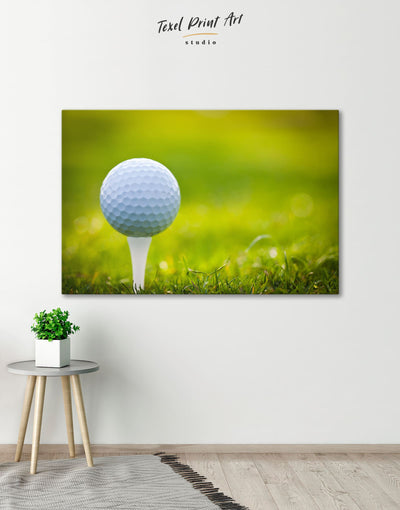 Golf Wall Art Canvas Print - 1 panel bachelor pad bedroom green Hallway