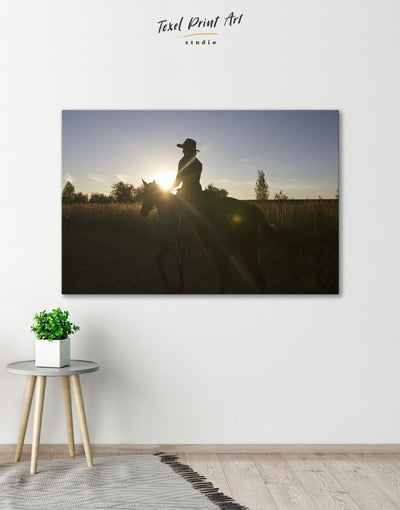 Horse Riding Wall Art Canvas Print - Canvas Wall Art 1 panel Animal Animals bedroom Hallway