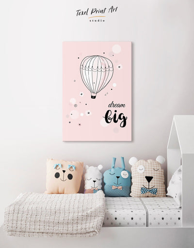 Hot Air Balloon Nursery Wall Art Canvas - Canvas Wall Art 1 panel Kids room kids wall art Nursery Nursery Wall Art