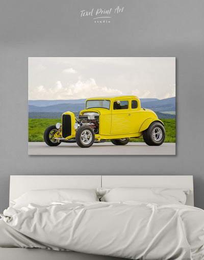 Hot Rod Wall Art Canvas Print - 1 panel bachelor pad car garage wall art Hallway