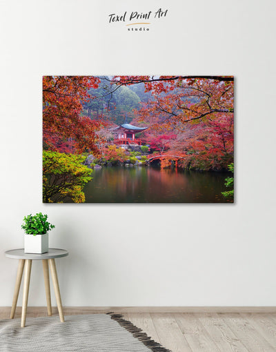 Japan Temple Wall Art Canvas Print - 1 panel japanese wall art Living Room Nature Office Wall Art