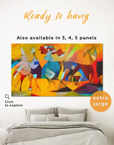 Joie De Vivre Picasso Wall Art Canvas Print - 1 panel Abstract art gallery wall bedroom Contemporary