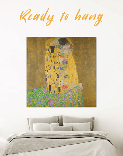 Kiss by Gustav Klimt Wall Art Canvas Print - 1 panel art gallery wall bedroom Gustav Klimt Hallway