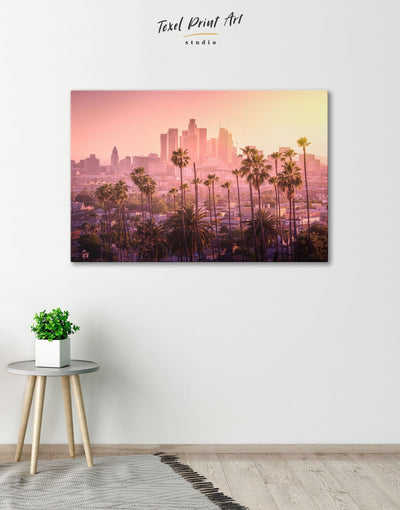 LA Skyline Canvas Wall Art - Canvas Wall Art 1 panel bedroom City Skyline Wall Art Cityscape florida wall art