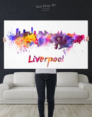 Liverpool Skyline Canvas Wall Art