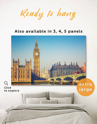London Wall Art Canvas Print - 1 panel bedroom City Skyline Wall Art Cityscape Dining room