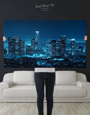 Los Angeles Skyline Wall Art Canvas Print