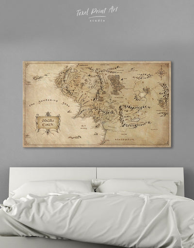 Middle Earth Wall Art Canvas Print - 1 panel Antique bedroom Library Living Room