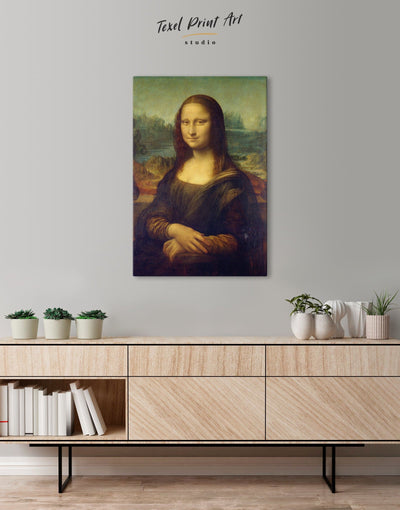 Mona Lisa by Leonardo da Vinci Wall Art Canvas Print - Canvas Wall Art 1 panel bedroom da Vinci Hallway Leonardo da Vinci