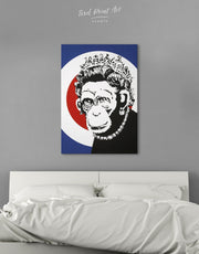 Monkey Queen by Banksy Wall Art Canvas Print