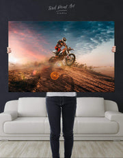 Motocross Wall Art Canvas Print 0994
