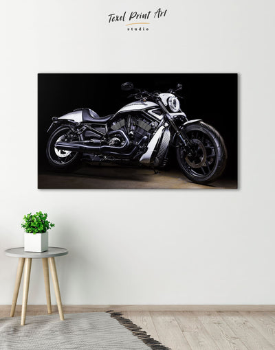 Motorcycle Wall Art Canvas Print - 1 panel bachelor pad garage wall art Living Room manly wall art
