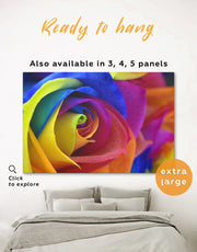 Multicolor Rose Wall Art Canvas Print