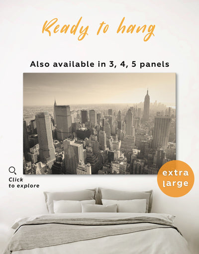 New York Cityscape Wall Art Canvas Print - 1 panel bedroom City Skyline Wall Art contemporary wall art Dining room