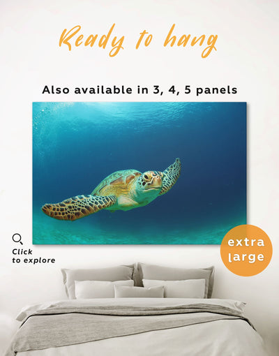 Ocean Wall Art Canvas Print - 1 panel Animal Blue Living Room ocean wall art