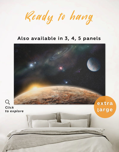 Outer Space Wall Art Canvas Print - 1 panel bedroom Constellations Wall Art Dining room dining room wall art