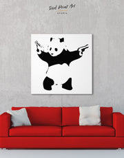 Panda with Guns by Banksy Wall Art Canvas Print