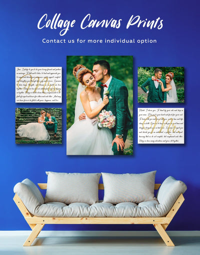 Personalized Family Wall Art Canvas Print - 1 panel bedroom Family Living Room personalized wall art for couples