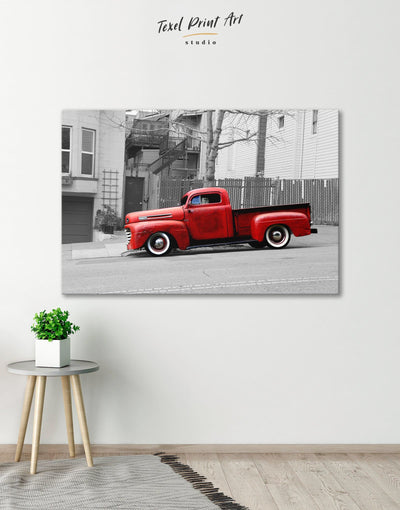 Pickup Truck Wall Art Canvas Print - 1 panel bachelor pad Car grey Hallway