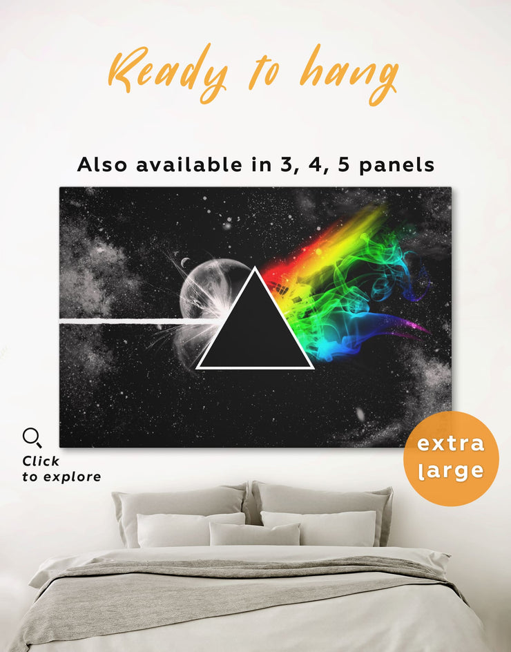 Pink Floyd Wall Art Canvas Print - 1 panel Abstract bedroom Black Living Room