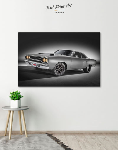 Plymouth Hemi Roadrunner Pro Touring Wall Art Canvas Print - 1 panel bachelor pad bedroom Car garage wall art