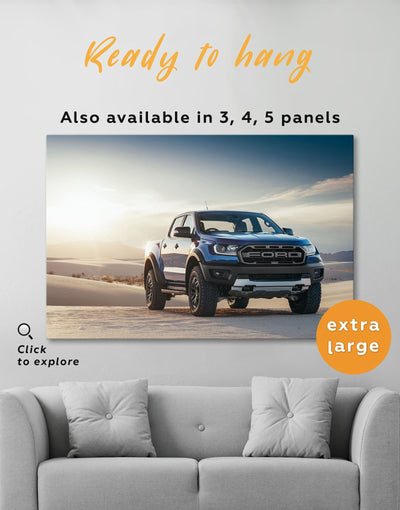 Powerful Baby Ford Raptor Wall Art Canvas Print - 1 panel bachelor pad car garage wall art wall art for men