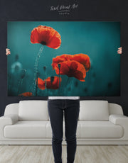 Red Poppy Wall Art Canvas Print
