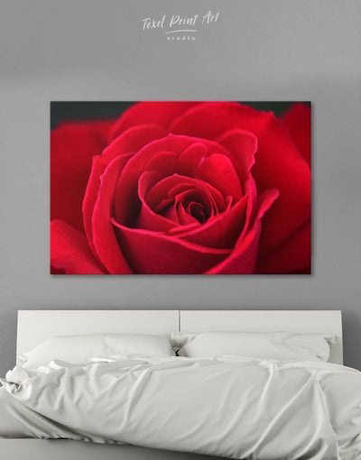 Red Rose Wall Art Canvas Print - Canvas Wall Art 1 panel bedroom flora Floral flower