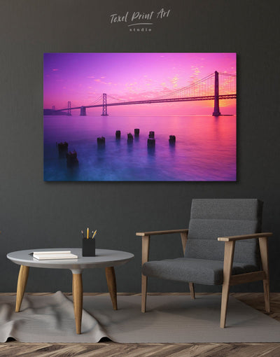 San Francisco Bridge Wall Art Canvas Print - 1 panel bedroom Bridge Golden Gate bridge wall art Living Room