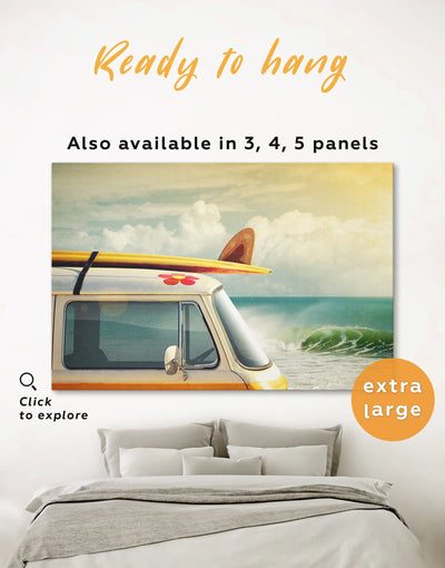 Seaside Wall Art Canvas Print - 1 panel Beach House beach wall art bedroom Car