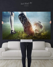 Soccer Wall Art Canvas Print