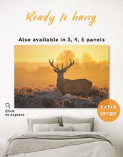 Stag Wall Art Canvas Print