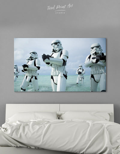 Stormtrooper Wall Art Canvas Print - 1 panel bachelor pad bedroom Black Blue