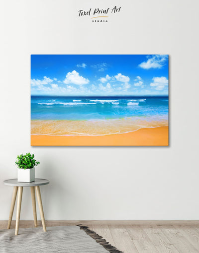 Sunny Beach Wall Art Canvas Print - 1 panel Beach House beach wall art beach wall art for bathroom bedroom