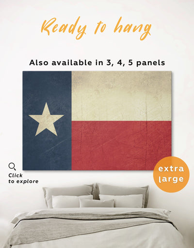 Texas Flag Wall Art Canvas Print - 1 panel Flag Wall Art Living Room modern wall art Office Wall Art