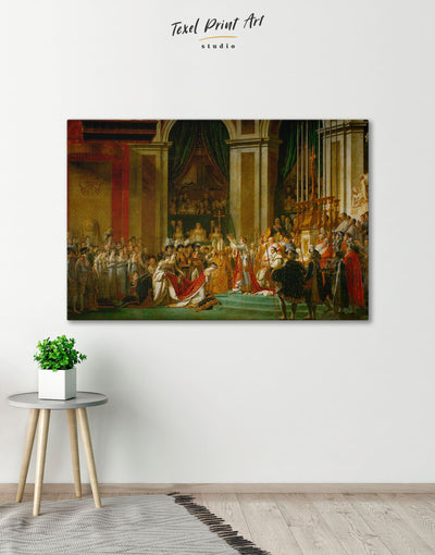 The Coronation of Napoleon by Jacques-Louis David Wall Art Canvas Print - 1 panel bedroom Hallway Library Living Room