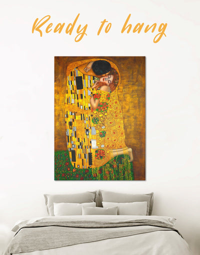 The Kiss by Gustav Klimt Wall Art Canvas Print - 1 panel art gallery wall bedroom Gustav Klimt Hallway