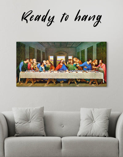The Last Supper by Leonardo da Vinci Wall Art Canvas Print - Canvas Wall Art 1 panel
