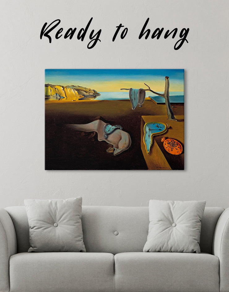 The Persistence of Memory by Salvador Dali Wall Art Canvas Print - Canvas Wall Art 1 panel Abstract bedroom Hallway Living Room
