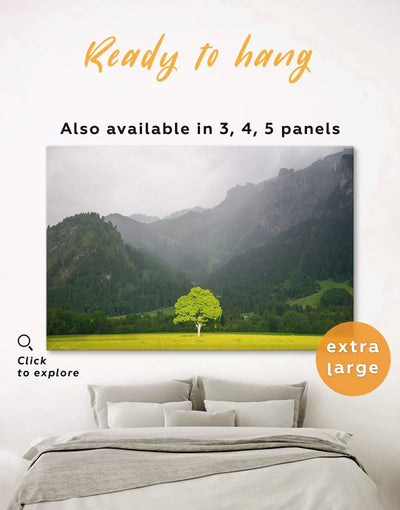 Tree Wall Art Canvas Print - 1 panel bedroom forest wall art Green Kitchen