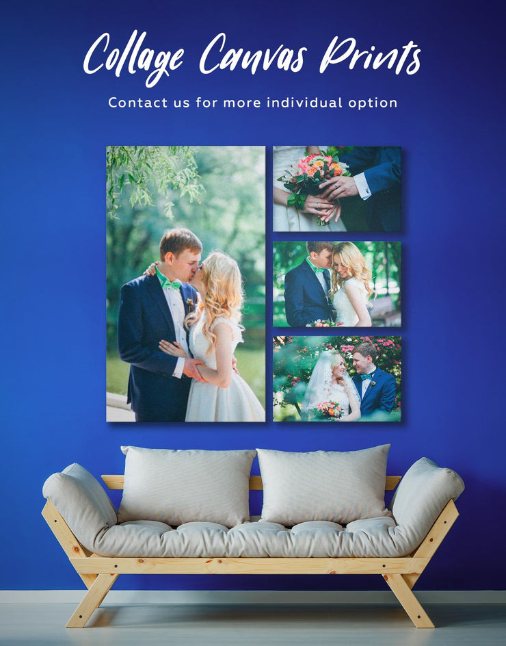 Turn Photos into Wall Art Canvas Print - 1 panel bedroom Family Living Room personalized wall art for couples