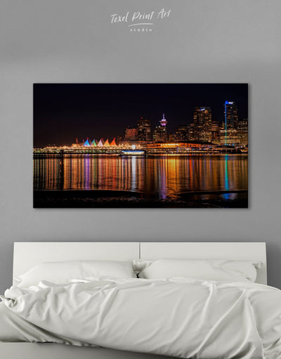 Vancouver Skyline Canvas Wall Art - Canvas Wall Art 1 panel bedroom City Skyline Wall Art Cityscape Dining room