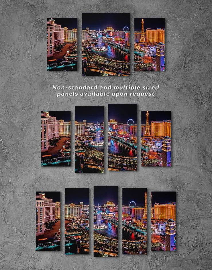 Vegas Skyline Canvas Wall Art - Canvas Wall Art 1 panel bedroom City Skyline Wall Art Cityscape Dining room