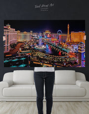 Vegas Skyline Canvas Wall Art
